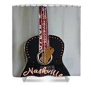 Music City Guitar Shower Curtain