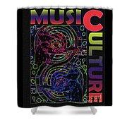 Music Culture Shower Curtain