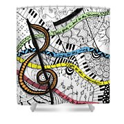 Music Gives Life Shower Curtain