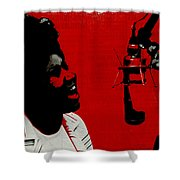Music Icons - Aretha Franklin Ill Shower Curtain