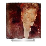 Music Icons - David Bowie Iv Shower Curtain