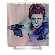 Music Icons - David Bowie Ix Shower Curtain