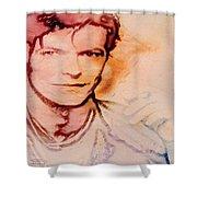Music Icons - David Bowie Vlll Shower Curtain