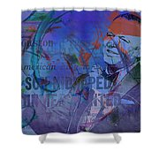 Music Icons - Frank Sinatra Iv Shower Curtain