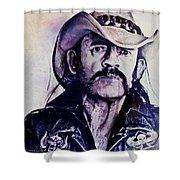 Music Icons - Lemmy Kilmister Iv Shower Curtain