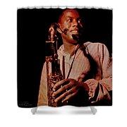 Music Icons - Wayne Shorter I Shower Curtain