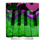 Music In Color Shower Curtain