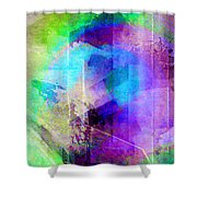 Music In The Forest - Abstract Art Shower Curtain