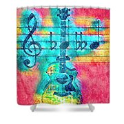 Music Is Everything In Colors Shower Curtain