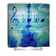Music Is Everything Lightning Shower Curtain