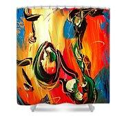 Music Jazz Saxophone Shower Curtain