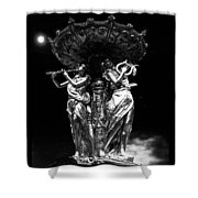 Music Makes The World Go Round Shower Curtain