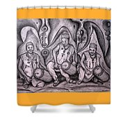 Music-making For Cosmic Unity #1 Shower Curtain