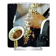 Music Man Saxophone 1 Shower Curtain