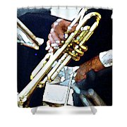 Music Man Trumpet Shower Curtain