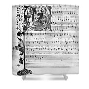 Music Manuscript, 1450 Shower Curtain
