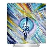Music Reflexion Shower Curtain
