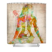 Music Was My First Love Shower Curtain