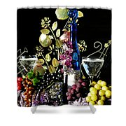 Music With Wine Shower Curtain