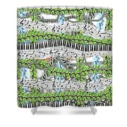Musical Abstract Shower Curtain