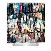 Musical Cassette Tapes Collage Shower Curtain