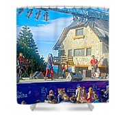 Musical Entertainment In Central Park In Bariloche-argentina Shower Curtain