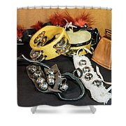 Musical Instrumets Grouping Shower Curtain
