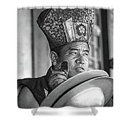 Musical Monk Bw Shower Curtain