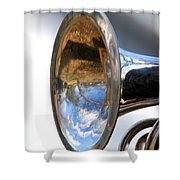 Musical Reflection Shower Curtain