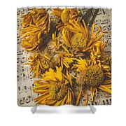 Musical Sunflowers Shower Curtain