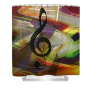 Musical Waves Shower Curtain