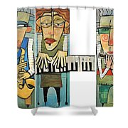 Musician Trio Shower Curtain