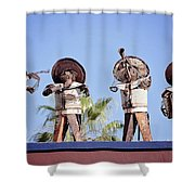 Musicians At The Hotel California Todos Santos Mx Shower Curtain