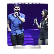 Musicians Michael And Marisa Shower Curtain