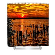 Muskegon Sunset Shower Curtain