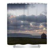 Musseden Temple Sunset Shower Curtain