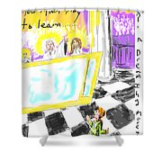 Must I Stay? Shower Curtain