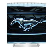 Mustang Emblem Shower Curtain