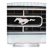 Mustang Logo Shower Curtain