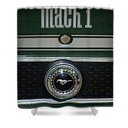 Mustang Mach 1 Emblem Shower Curtain
