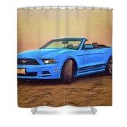 Mustang Ocean Shores Beach Shower Curtain