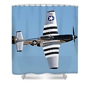 Mustang Photo Pass - 2017 Christopher Buff, Www.aviationbuff.com Shower Curtain