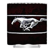 Mustang Pony Logo Shower Curtain