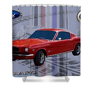 Mustang Poster Shower Curtain
