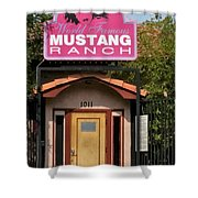 Mustang Ranch Entrance Shower Curtain
