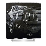 Mustang Rear Shower Curtain