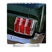 Mustang Tail Light Shower Curtain