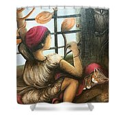 Mute Notes Shower Curtain