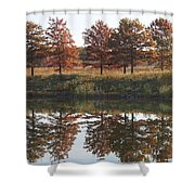Muted Fall Shower Curtain
