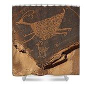Mv Petroglyph 7364 Shower Curtain